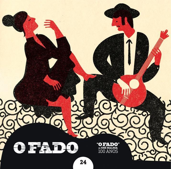 """2012 O Fado de José Malhoa 100 Anos 24 [Tugaland/A Bela e o Monstro] ilustração: André da Loba """"O fado e a obesidade"""" #albumcover #illustration #fado #music"""