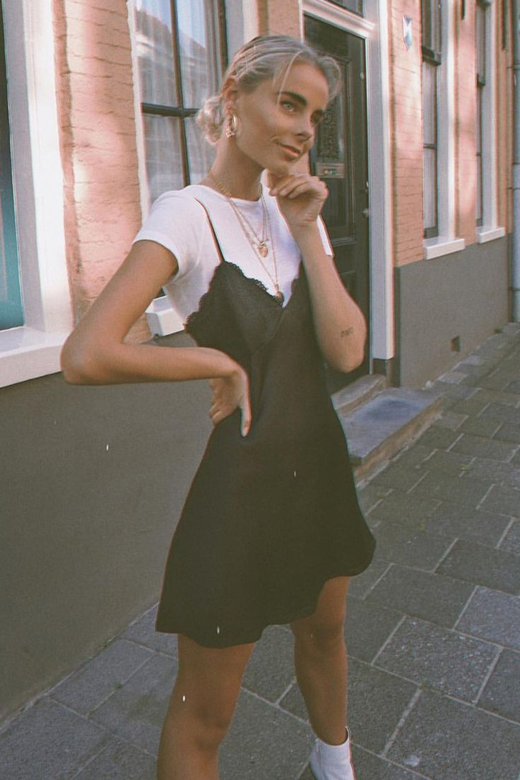 Vg Heart Of Paris Lace Slip Mini Dress Black Slip Dress Outfit Casual Dress Outfits Fashion Inspo Outfits [ 1104 x 736 Pixel ]