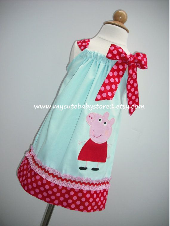 Hey, I found this really awesome Etsy listing at https://www.etsy.com/listing/165092237/peppa-pig-pillowcase-dress