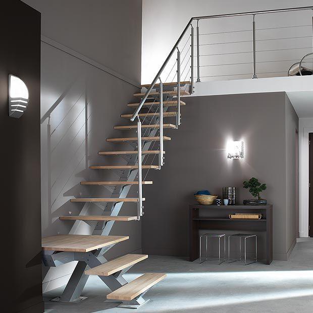 Escalier 1 quart tournant urban m tal les escaliers droits et quart tournan - Escalier bois metal quart tournant ...