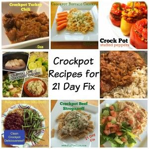 Here are some yummy recipes you can use with your crockpot for 21 Day Fix!