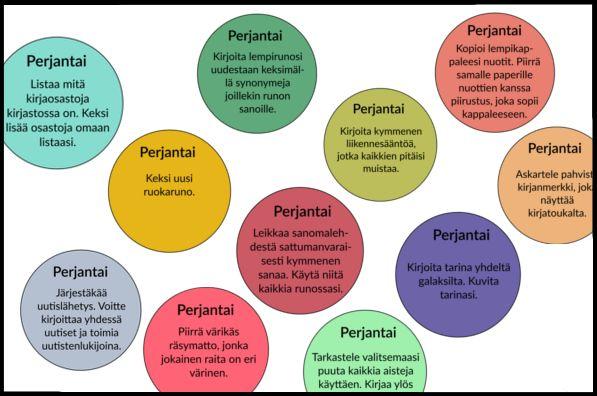 Kuvataidetehtäviä, sanataidetehtäviä, kirjoitustehtäviä! Mitä kaikkea uttilaiset ovatkaan keksineet? Oppimateriaali, äidinkieli
