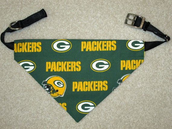 Green Bay Packers Dog Collar Bandanna/Scarf  by JanesSewCreative