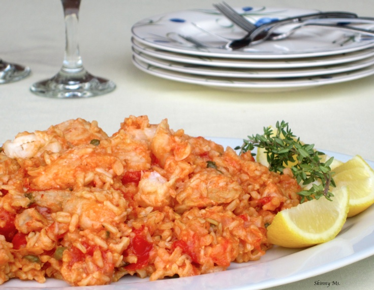 Yum: Fresh Thyme, Brown Rice, Sources Of Protein, Flounder Recipes, Seafood Dishes, Healthy Eating, Tomatoes Fresh, Seafood Dinners, Healthy Seafood