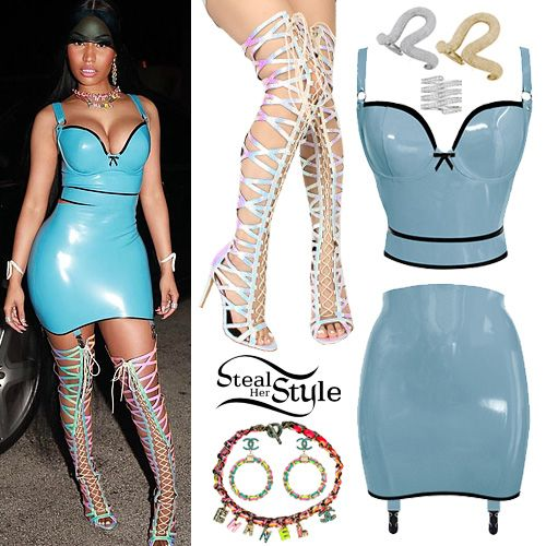 8d7c77fa Nicki Minaj Clothes & Outfits | Steal Her Style | Latex in 2019 ...