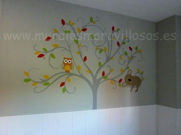 Mejores 10 im genes de arboles pintados en dormitorios - Habitaciones pintadas infantiles ...