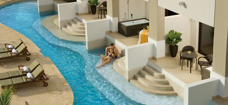 Like these swim-up suites at Secrets Wild Orchid Montego Bay? See more of this #Jamica resort here!