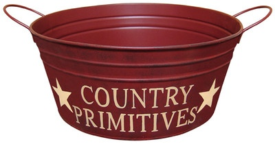 Country Primitive Wash Tub