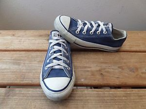 Vintage-Converse-All-Star-Blue-Canvas-Low-Top-Shoes-USA-Made-Mens-size-4-Wos-6