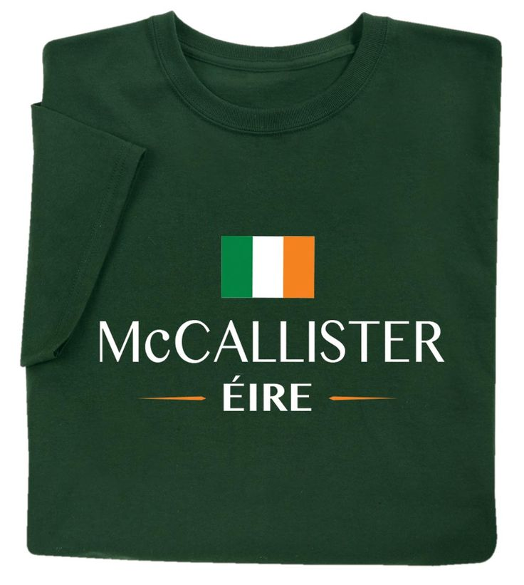 "Personalized ""your Name"" Irish National Flag Shirt – T-Shirt – XL"
