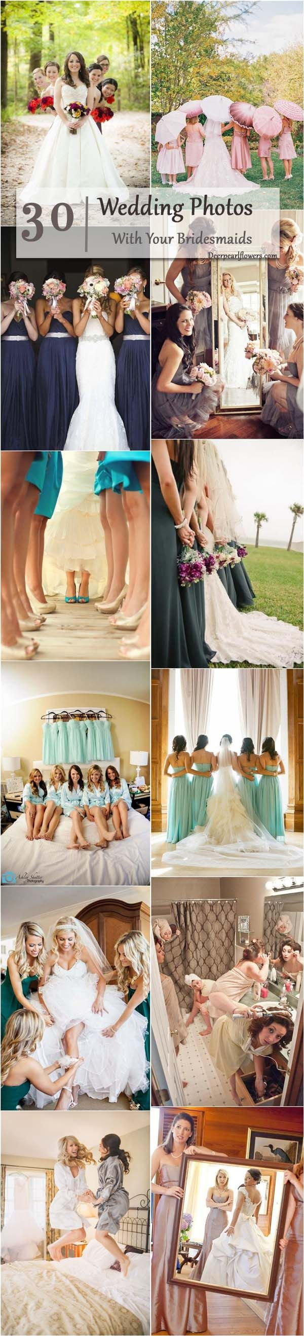 Wedding Photos With Your Bridesmaids
