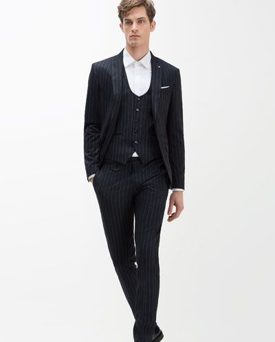 COSTUME À FINES RAYURES-COSTUMES-HOMME | ZARA France