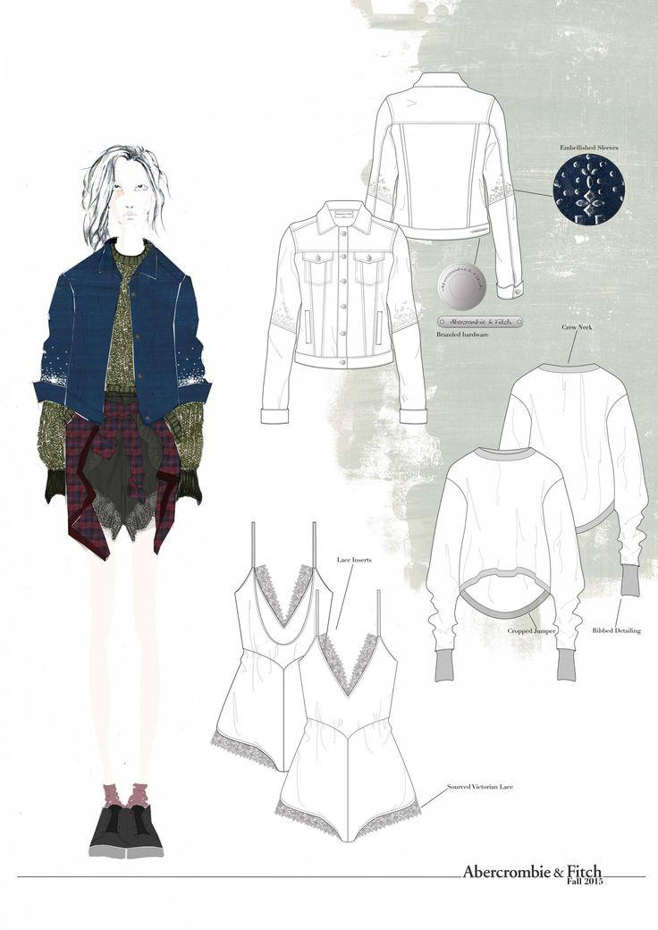 Fashion Portfolio - fashion design drawings; fashion sketchbook // Emma Louise Williams