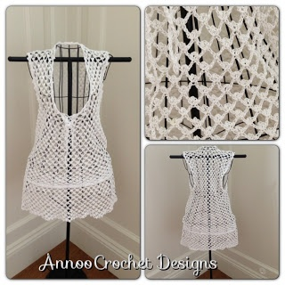 Annoos Crochet World: Bermuda Beach Cover up Free Pattern