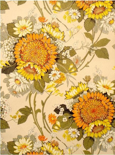 Sunshine Suzy Vintage Original Wallpaper by DaisiesInTheAttic, $125.00