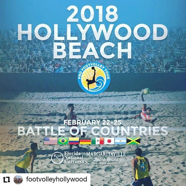 Credit to @footvolleyhollywood    Training sessions with @miamibeachtraining this week to be ready for this weekend  Come out and support La hiena @maxischenfeld & El pana @iljole during this exciting weekend at the @profootvolleytour.   For details of the schedule stay tuned with @profootvolleytour and @thesergiomenezes.     #HollywoodTapFL #HollywoodFL #HollywoodBeach #DowntownHollywood #HardRockHolly #Miami #FortLauderdale #FtLauderdale #Dania #Davie #DaniaBeach #Aventura #Hallandale…