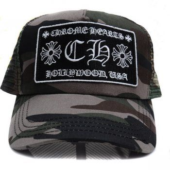 2013 Chrome Hearts CH Patch Camo Trucker Cap Sale Bramd: Chrome Hearts Color: Camo. Size: one size (with the adjuster). It is Chrome Hearts chrome hearts New trucker chief. It is patched CH(Chrome Hearts Hollywood,USA) by a duck basis! It is the silver ball of the CH plus on the top. Free shipping ,4-7 days for delivery http://www.chromeheartsonlineoutlet.com/