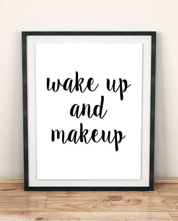 makeup print bathroom wall decor modern art teen girl gift makeup poster bedroom quotes bedroom artwork