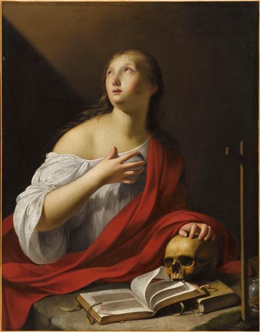 """""""La Madeleine pénitente"""" de Guy François (1578/1580-1650), (dit) le Grand François. Paris, musée du Louvre - Photo (C) RMN-Grand Palais (musée du Louvre) / Franck Raux"""