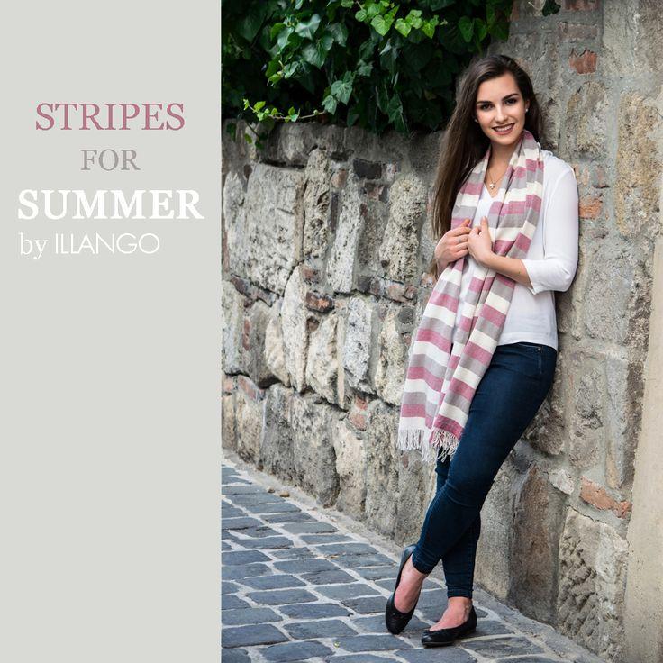 Lovely stripes #illangohandwoven #lovescarves #summermood