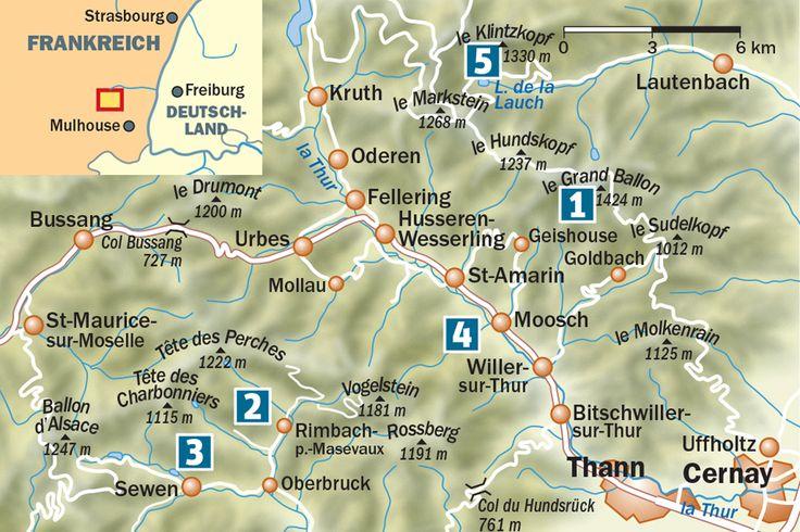 Hier gibt es die wichtigsten Reiseinfos für Vogesen-Wanderer sowie die Top-Touren und Tipps unserer Autorin ...