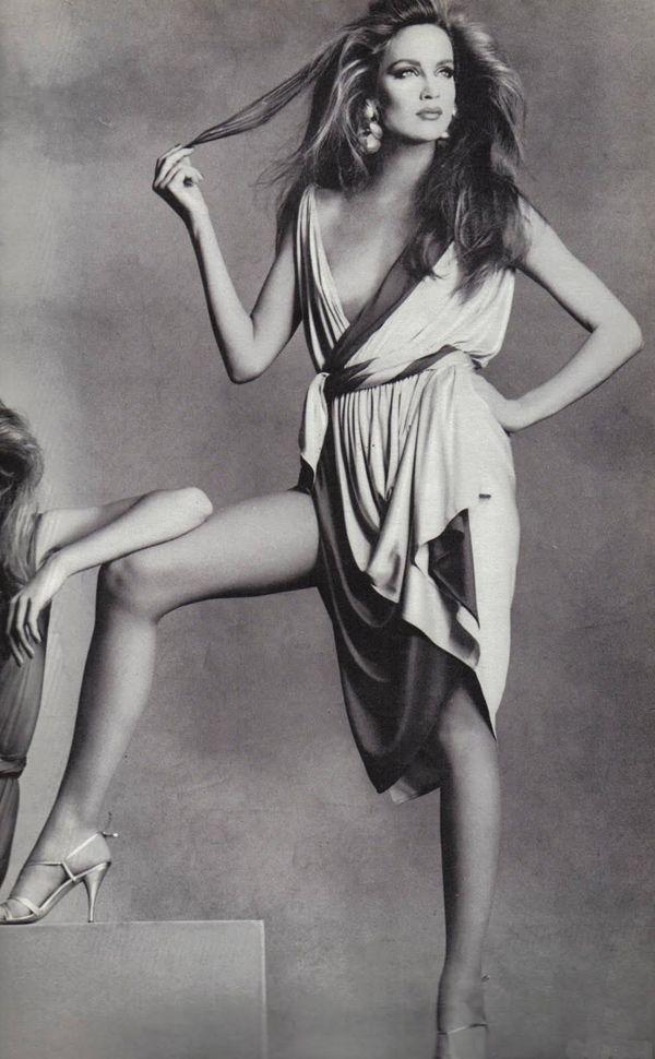 Jerry Hall. Vogue 1975.