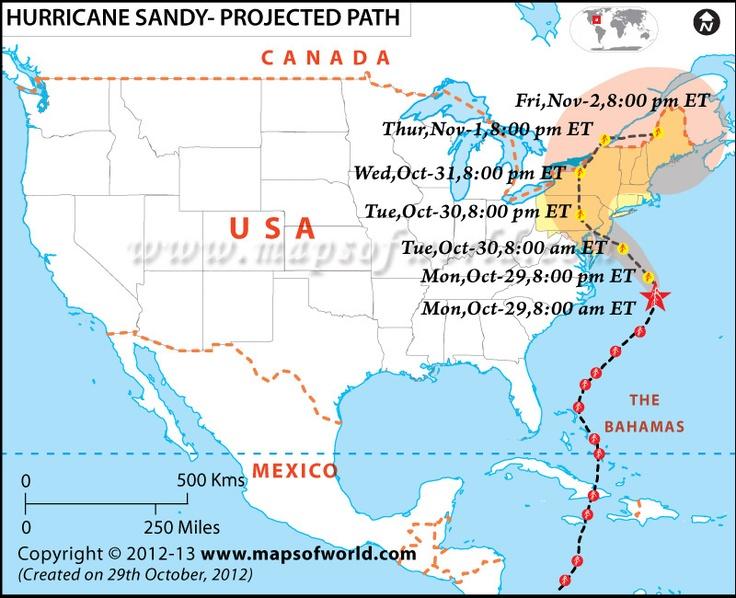 Hurricane Sandy Map Shows Storm S Path Towards Us Northeast Http