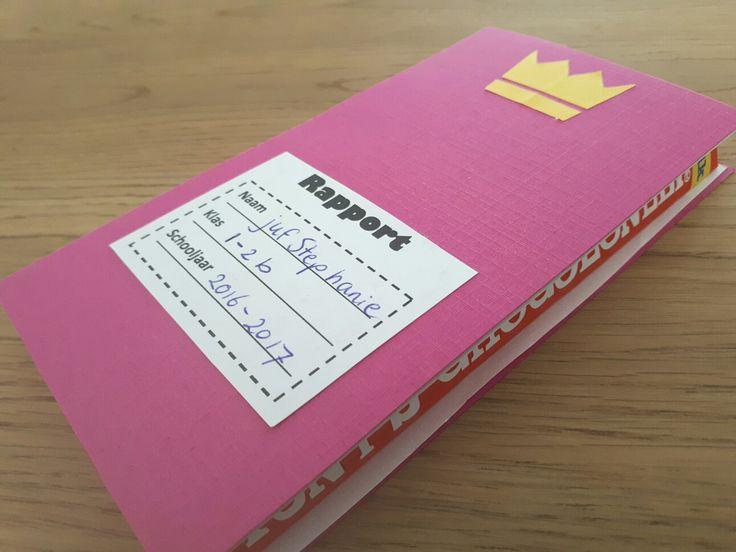 Afscheidskado juf - Rapport van tony's chocolonely chocoladereep - by Tilia