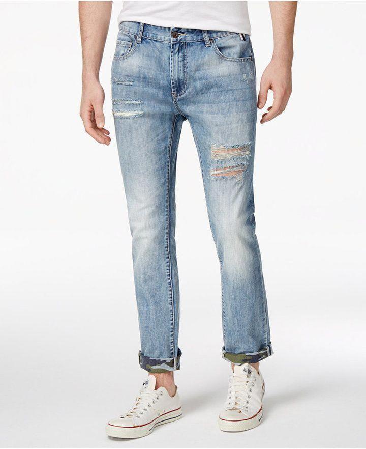 a87d6a6ba3cbf American Rag Men s Camo Cuffed Ripped Jeans