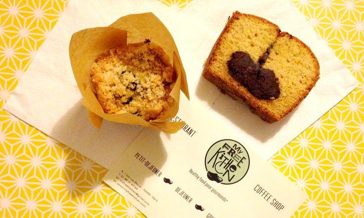 Muffin aux myrtilles et marbré vanille/chocolat by My Free Kitchen