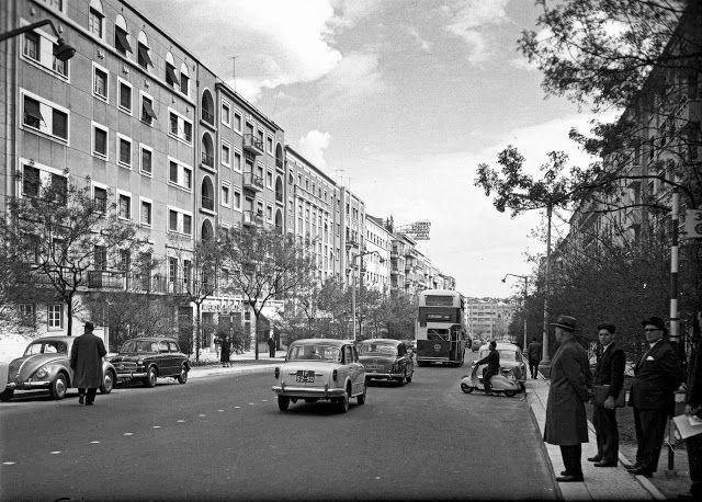 Avenida Guerra Junqueiro, década 1950. António Passaporte