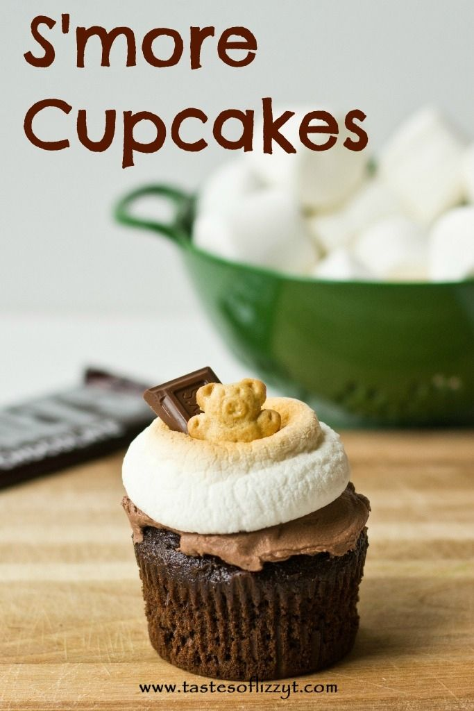 S'more Cupcakes {Tastes of Lizzy T} http://www.tastesoflizzyt.com/2013/07/12/smore-cupcakes/