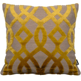 Heal's Du Barry Trellis Yellow Cushion By Osborne & Little