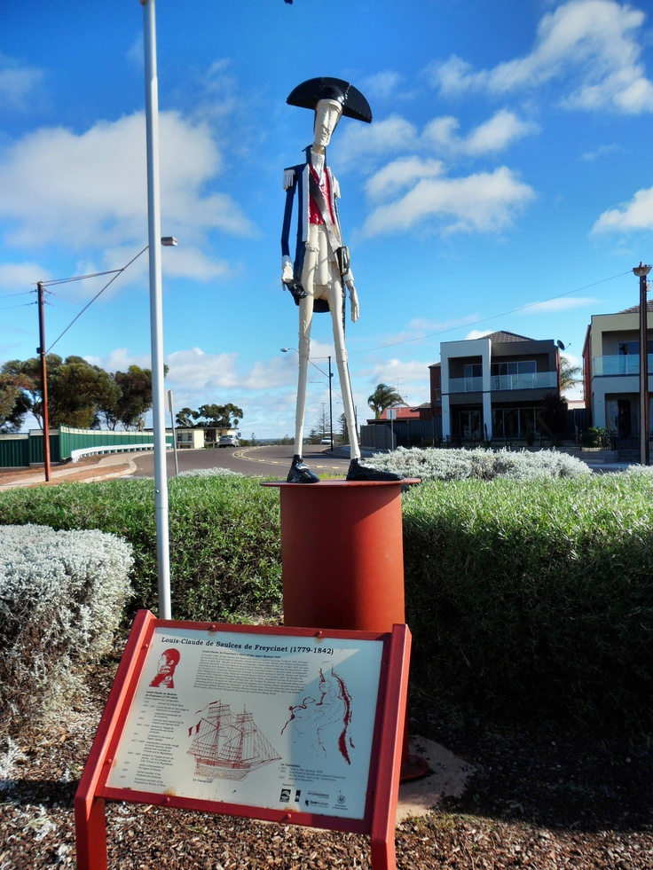 French explorer De Freycinete  memorial, Whyalla, South Australia