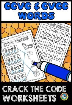 #CCVC & #CVCC #WORDS: #CRACK THE #CODE #WORKSHEETS: #REVEAL #SECRET WORD AND MATCH IT WITH PICTURE
