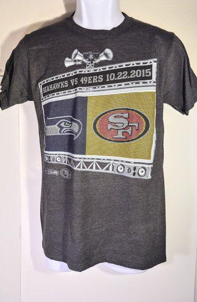 NFL Seahawks vs 49ers T Shirt - Seattle, San Francisco - Size S - Gray - EUC S/S    eBay