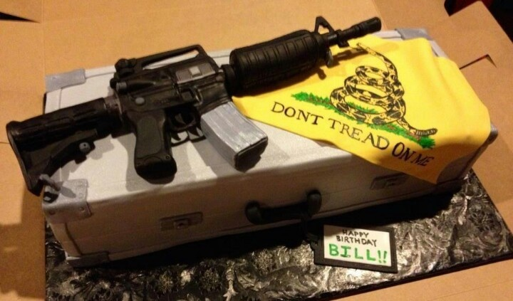 Gun cake! Would be super cute for a guy!