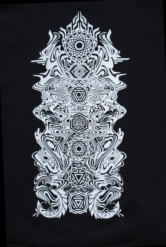 Chakra Totem Sacred Geometry Tshirt by Sacred G