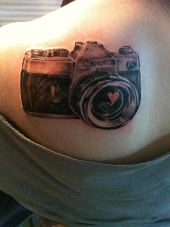 #camera #tattoo #girl ;) - Repinning because I'm hoping it gets on the tattoo page! Haha.