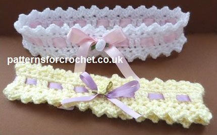 Free baby crochet pattern baby headband USA