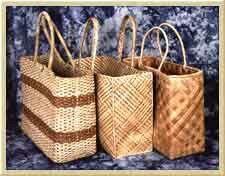 Hawaiian Lauhala Bags