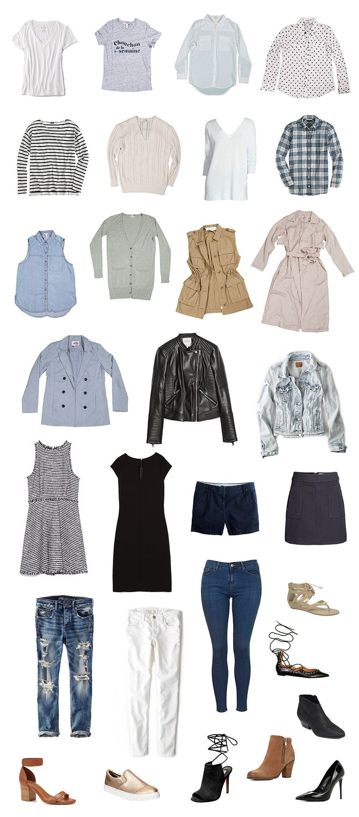 With just these 27 items, you can create your very own capsule wardrobe. The best part is it makes getting dressed super easy. Click through for outfit ideas for all occasions.