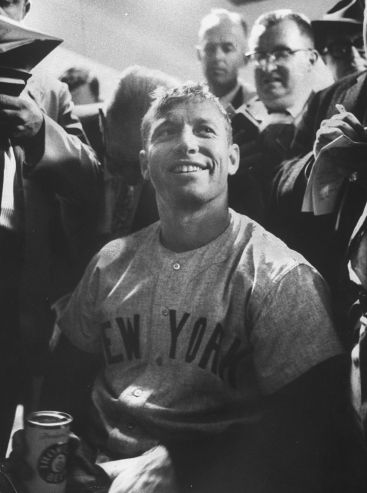 Mickey Mantle Smiling After Hitting Two Home Runs in the World Series | Mickey Mantle: A Ballplayer's Glory and Pain