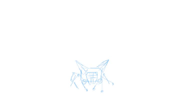 Fase 2 een duidelijk skelet maken zodat ik hierop een lijn schets kan maken