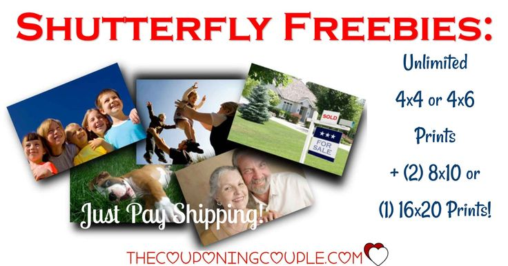 HOT FREEBIE! Get UNLIMITED FREE Photo Prints + (2) 8x10s or a 16x20 Print from Shutterfly! Great for all those photos on your phone or computer, for scrapbooks, for sharing! Perfect for all the photos from this weekend! GO NOW!  Click the link below to get all of the details ► http://www.thecouponingcouple.com/shutterfly-101-free-prints-just-pay-shipping/ #Coupons #Couponing #CouponCommunity  Visit us at http://www.thecouponingcouple.com for more great posts!