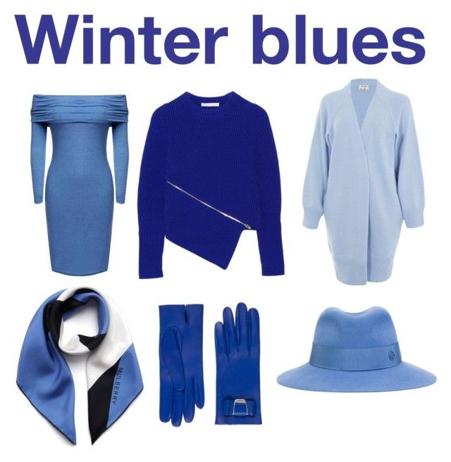 """""""Winter blues"""" by misstoitty on Polyvore featuring Acne Studios, Mulberry, Maison Michel, Bally, Alexander Wang, women's clothing, women, female, woman and misses"""