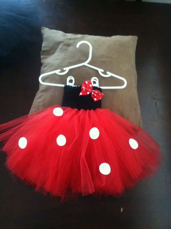 Red or black minnie  mouse tutu costume by Happyhousewife3 on Etsy, $20.00