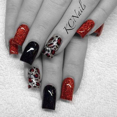 15-Negro-Rojo-Gel-Nail-Art-Designs-Ideas-2016-1