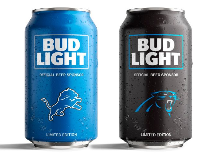 Bud Light's Popular NFL Team Cans Are Back With a New Minimalist Design