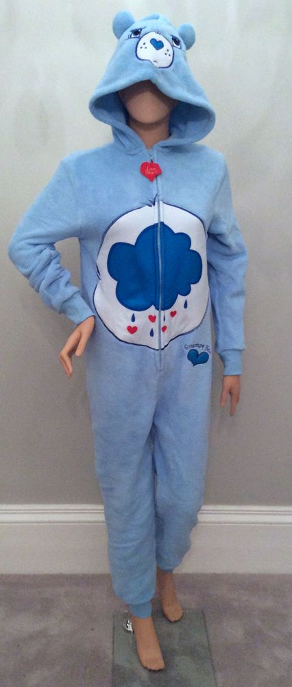 Adult WOMENS PRIMARK All in One Onesie Pyjama CARE BEARS GRUMPY BEAR Costume #Primark #Onesie #Everyday